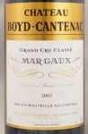 2003年 シャトー ボイド カントナック CHATEAU BOYD CANTENAC