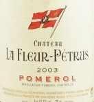2003年 シャトー ラ フルール ペトリュス CHATEAU LA FLEUR PETRUS