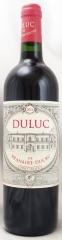 2016年 デュリュック ド ブラネール デュクリュ(赤ワイン)