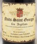 2005年 ニュイ サン ジョルジュ レ ザルジラ NUITS ST GEORGES LES ARGILLATS DOMAIN LOUIS FLEUROT